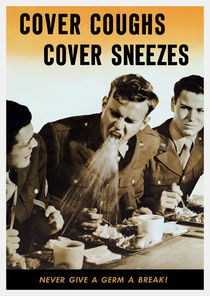 Never Give A Germ A Break - WW2 Poster by warishellstore