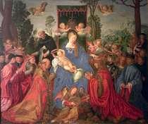 Garland of Roses Altarpiece von Albrecht Dürer
