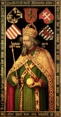 Emperor Sigismund, Holy Roman Emperor, King of Hungary and Bohem by Albrecht Dürer