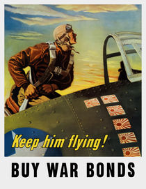 Keep him flying! Buy War Bonds von warishellstore