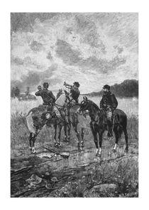 Civil War Soldiers On Horseback by warishellstore