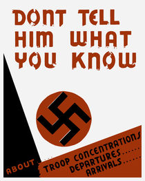 Don't tell him what you know - WWII von warishellstore