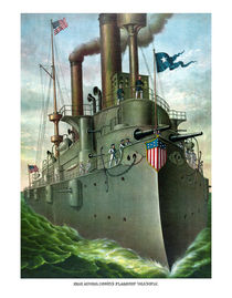 Admiral Dewey's Flagship Olympia by warishellstore