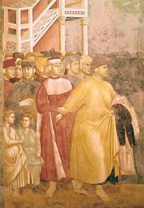 St. Francis Renounces all Worldly Goods, detail of Pietro di Ber von Giotto di Bondone
