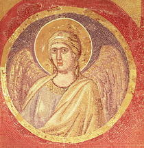 Detail of an angel from the Navicella, the Ship of the Church by Giotto di Bondone