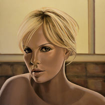 Charlize Theron painting by Paul Meijering