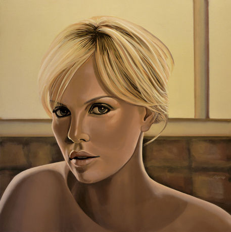Charlize-theron-painting