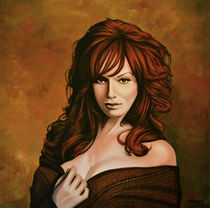 Christina Hendricks painting by Paul Meijering