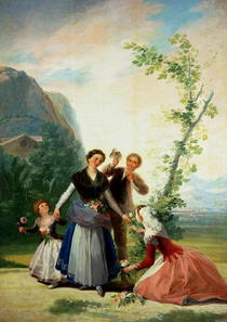 The Florists or Spring von Francisco Jose de Goya y Lucientes