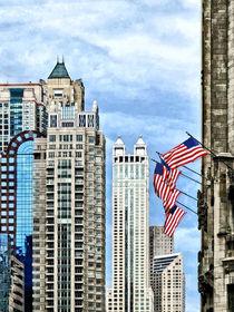 Chicago - Flags Along Michigan Avenue von Susan Savad
