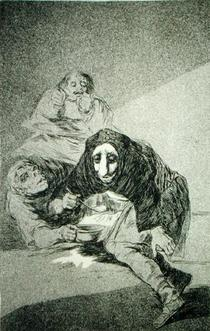 The shamefaced one, plate 54 of `Los Caprichos` by Francisco Jose de Goya y Lucientes