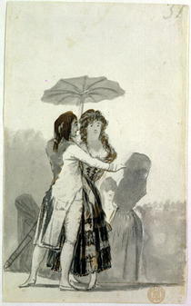 Couple with a Parasol  by Francisco Jose de Goya y Lucientes