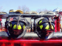Firefighters - Fire Helmet and Boots by Susan Savad
