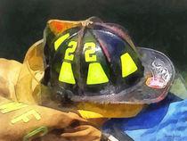 Fire Fighters - Fireman's Helmet on Uniform by Susan Savad
