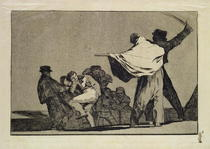 Well known Folly, from the Follies series von Francisco Jose de Goya y Lucientes