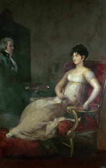The Marquesa de Villafranca Painting her Husband von Francisco Jose de Goya y Lucientes