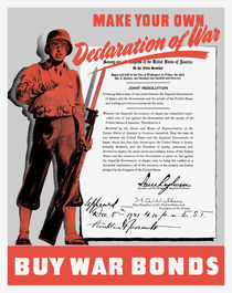 Make Your Own Declaration Of War -- WW2 Propaganda von warishellstore