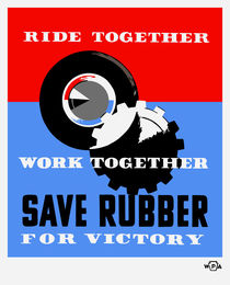 Save Rubber For Victory -- WPA by warishellstore