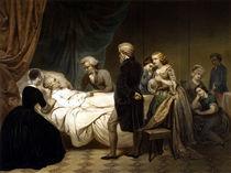 George Washington On His Deathbed by warishellstore