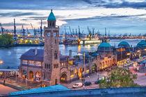 Hamburg Hafen und Landungsbrücken von Jan Schuler