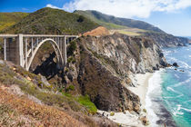 Bixby Creek Bridge, Highway No. 1. by Jan Schuler