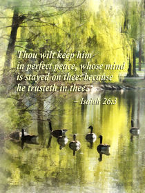 Isaiah 26-3 Thou wilt keep him in perfect peace by Susan Savad
