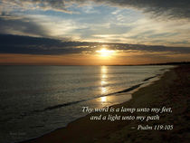 Psalm 119:105 Thy word is a lamp by Susan Savad
