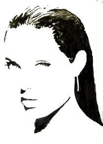Schwarz-weiß Portrait verführerische Frau by Klaus Engels