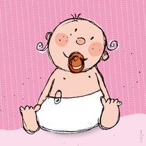 Baby in rosa von Evi Gasser
