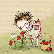 Hexe Waltraud mit Erdbeeren by Evi Gasser