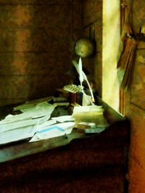 Desk With Quill and Papers von Susan Savad