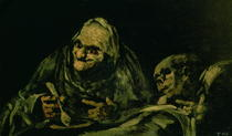 Two Old Men Eating, one of the `Black Paintings` von Francisco Jose de Goya y Lucientes