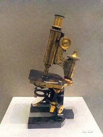 Vintage Microscope by Susan Savad
