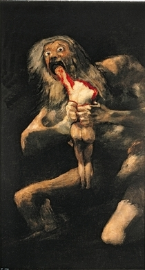 Saturn Devouring one of his Children von Francisco Jose de Goya y Lucientes