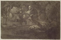 Funereal riddle, plate 18 of `Proverbs`, 1819-23, published 1864 von Francisco Jose de Goya y Lucientes