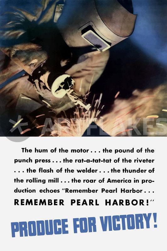 HD限定 Remember Pearl Harbor Poster - さととめ