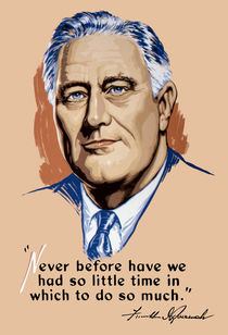 President Franklin Roosevelt and Quote von warishellstore