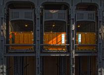 Auto Fahrstuhl im alten Elbtunnel von Carsten Gitt