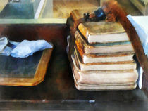 Old School Books and Slate by Susan Savad