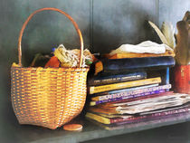 Books, Basket and Quill by Susan Savad