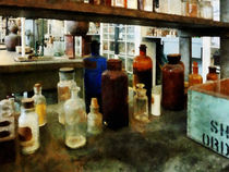 Assorted Chemicals in Bottles by Susan Savad