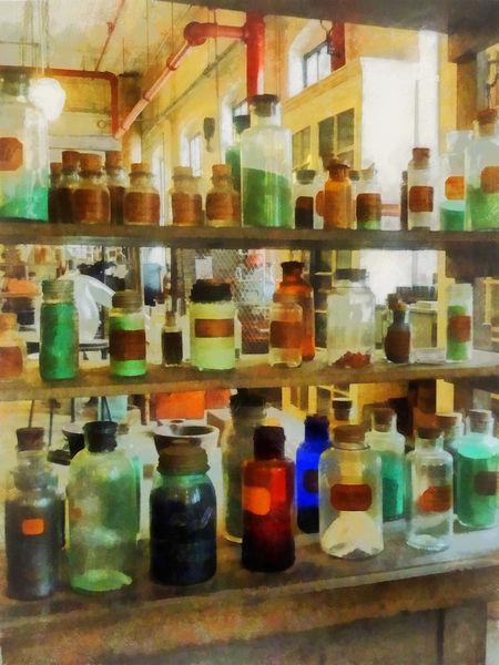 Fa-bottlesofchemicalsgreenandbrown