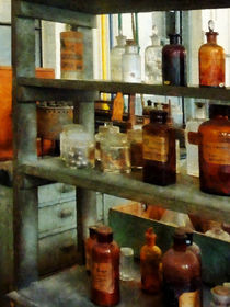 Bottles of Chemicals Tall and Short by Susan Savad