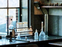 Glassware In Lab by Susan Savad