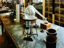 Retort in Chem Lab by Susan Savad