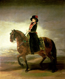 Equestrian portrait of Queen Maria Luisa  by Francisco Jose de Goya y Lucientes