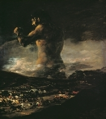 The Colossus von Francisco Jose de Goya y Lucientes