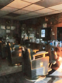 Barber Shop With Sun Streaming Through Window by Susan Savad