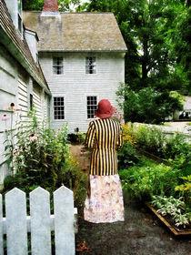 Woman With Striped Jacket and Flowered Skirt von Susan Savad