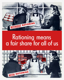 Rationing Means A Fair Share For All Of Us von warishellstore
